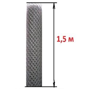 Сетка рабица (высота 1,5 м., проволока 2,0 мм.)