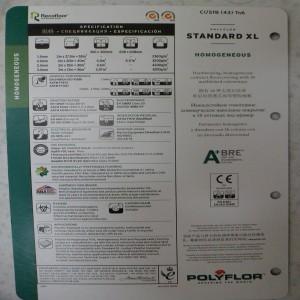 ГОМОГЕННЫЙ ЛИНОЛЕУМ POLYFLOR Standard XL
