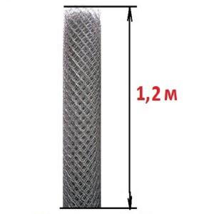 Сетка рабица (высота 1,2 м., проволока 2,0 мм.)