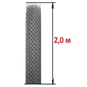 Сетка рабица (высота 2,0 м., проволока 1,8 мм.)